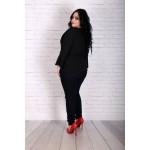Елегантна черна риза-туника