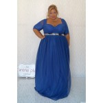 Нов цвят синя кралска рокля