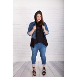 Еластичен дънков потур | SIRENA plus онлайн магазин