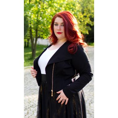Късо яке със златен цип | SIRENA plus онлайн магазин за модерна макси мода