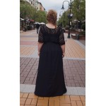 Дълга черна рокля от шифон | Онлайн магазин за модерна макси мода