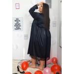 Черен секси халат