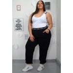 Спортен панталон с висока талия и външен ластик