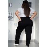 Спортен панталон с прав крачол и висока талия