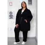 Спортно-елегантен комплект от манто и панталон с прав крачол