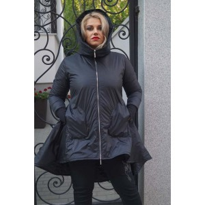 Дамско есенно яке в черно