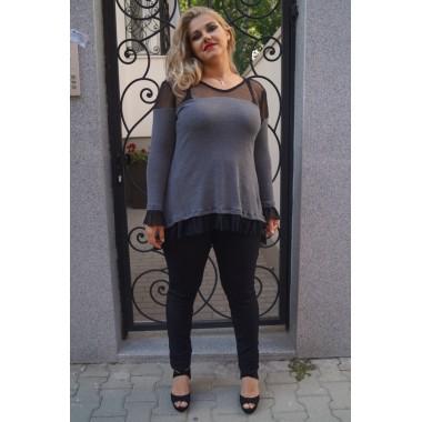 Пуловерче с мрежа и къдрички ЗАРА |SIRENA plus онлайн магазин