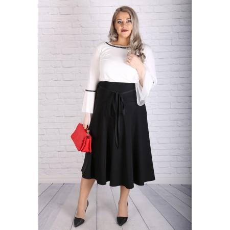 Класическа черна пола с платка | Онлайн магазин за модерна макси мода