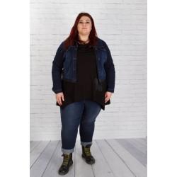 Тъмно синьо дънково яке - големи рамери