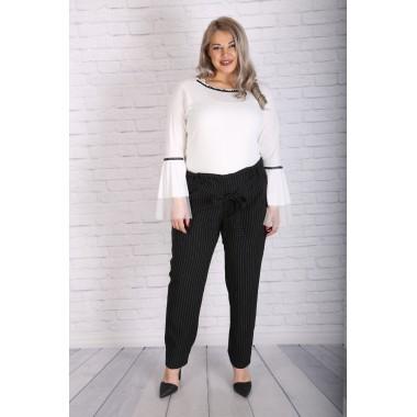 Широк панталон с висока талия и коланче | Онлайн магазин за модерна макси мода