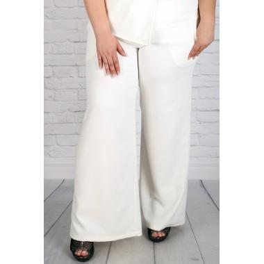 "Бял летен панталон тип ""Чарлстон"" | Онлайн магазин за модерна макси мода"