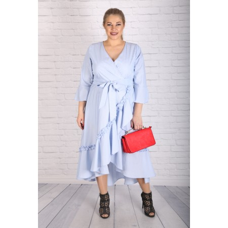 """Шеметна светло синя рокля """"КАЯ""""   Онлайн магазин за модерна макси мода"""