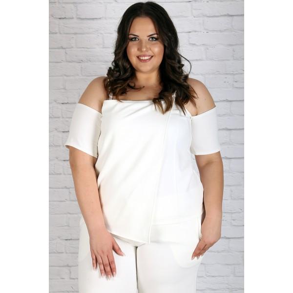 Прекрасен бял летен топ | Онлайн магазин за модерна макси мода