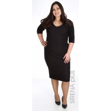 права дамска рокля в черно със златен цип  | Онлайн магазин за модерна макси мода