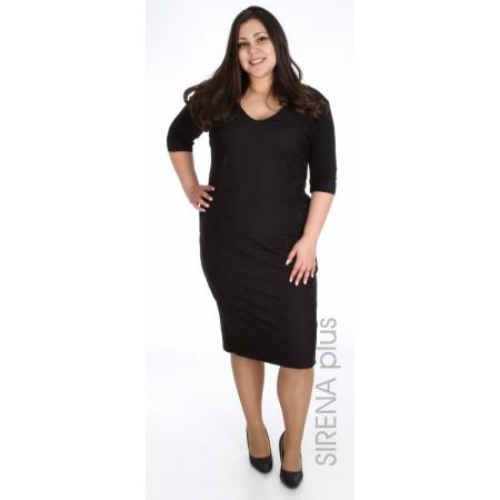 права дамска рокля в черно със златен цип    Онлайн магазин за модерна макси мода
