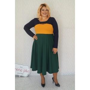 """Трицветна плътна рокля """"Жанет"""""""