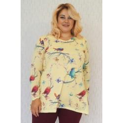 Плетена туника с птички