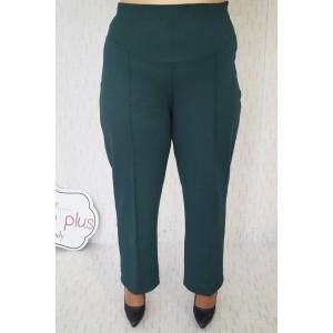 Панталон с висока талия и прав крачол в зелено