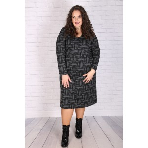 """Елегантна плетена офис рокля """"АМБЪР"""""""