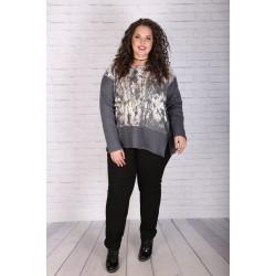 Елегантен сив пуловер