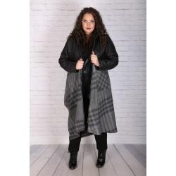 Макси асиметрично палто от вълна с хастар