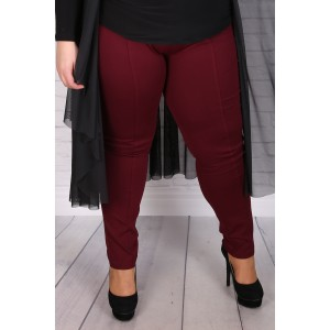 Макси прав стегнат клин-панталон бордо | Онлайн магазин за модерна макси мода