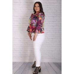 Бял еластичен клин-панталон | Онлайн магазин за модерна макси мода