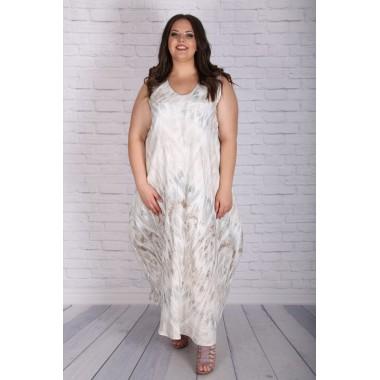 Лятна рокля от лен | SIRENA plus модерна макси мода