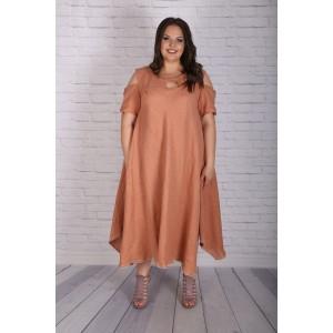 Ефирна ленена рокля | Онлайн магазин за модерна макси мода