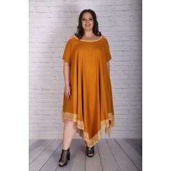 Ленена рокля в горчица | Онлайн магазин за модерна макси мода