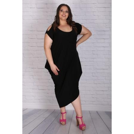 Eжедневна черна рокля   Онлайн магазин за модерна макси мода