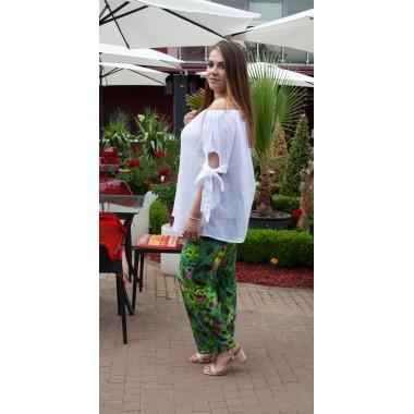 f96e6f99622 Цветен прав панталон в зелено | МАКСИ МОДА |SIRENA plus