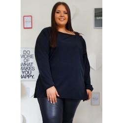Елегантна риза-туника с едно рамо