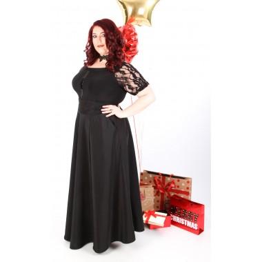 Черна пола от тафта   | SIRENA plus модерна макси мода