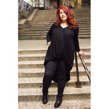 Дълга туника в черен цвят Марая | МАКСИ МОДА |SIRENA plus