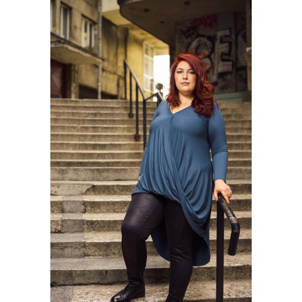 Дълга туника в син цвят Марая | МАКСИ МОДА |SIRENA plus
