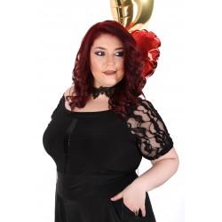 Официална туника за пола в черно | SIRENA plus модерна макси мода