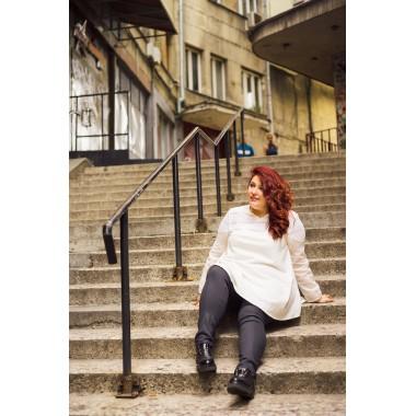 Риза с дантела в бяло | SIRENA plus онлайн магазин модерна макси мода