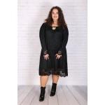 Малка черна дантелена рокля