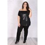 Туника от тюл с лъскава блуза 215 | Онлайн магазин за модерна макси мода