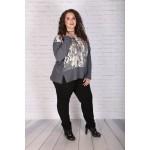 Елегантен сив пуловер | Онлайн магазин за модерна макси мода