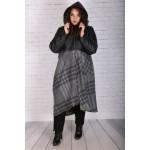 Макси асиметрично палто от вълна с хастар| Онлайн магазин за модерна макси мода