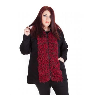 Екстравагантно пролетно манто Red Passion  | SIRENA plus модерна макси мода