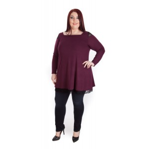 Туника от нежна плетка Ester | SIRENA plus модерна макси мода