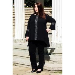 Есенна дълга риза с дантела  | SIRENA plus онлайн магазин
