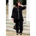 Черни еластични дънки с ефект | SIRENA plus онлайн магазин