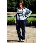 Сини ластични дънки с ластичен колан  | SIRENA plus онлайн магазин