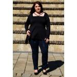 Красива туника с детайл-бижу   | SIRENA plus онлайн магазин