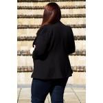 Черно сако от еластична материя