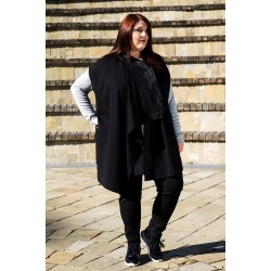 Черно Асиметрично елече със страничен цип